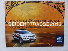 Range Rover Evoque - special edition silk road - brochure brochure 06.2013