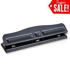 2 Or 3 Hole Adjustable Quality Desktop Punch 12 Sheets Capacity School Office