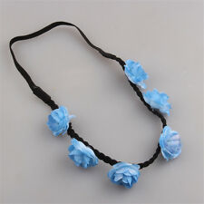 Summer Boho Floral Flower Party Wedding Hair Garland Headband Hair Band Blue
