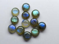 15 Pcs Natural Blue Fire LABRADORITE 10x10 mm Round Cabochon Loose Gemstone P2