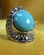 CFJ 925 Sterling Silver Turqoise Gemstone Ladies Ring Size-8 (new) Fine Jewelry