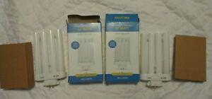 Set of TWO FML27 27-Watt 6500 K Compact Fluorescent Light Bulb, 4-pin, Daylight