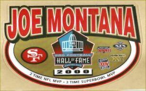 49ers Football Helmet Decals Free Shipping Joe Montana Tribute