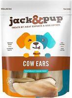 premium Grade Odor Free Cow Ears Dog Treats, (15 Pack)