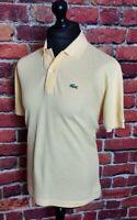 Vintage Lacoste Polo Shirt Yellow Size 5 - L - Large