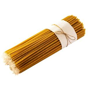 Handmade Candles Beeswax Ritual Candles - Height 32cm - Dipper Tapered Orthodox