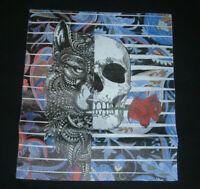 Robert Graham Men's Wolf Skull Rose Black T- Shirt Sz L $78 NWT Wolfe