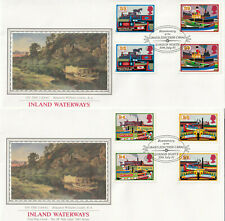 (29289) GB PPS Sothebys FDC x2 Inland Waterways GUTTER PAIRS Grand Junction 1993