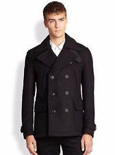 Burberry Brit Mens Brantford Wool Peacoat Jacket Coat Sz Large