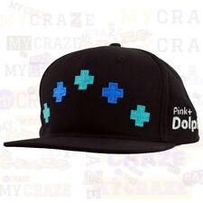 PINK DOLPHIN Cross Wave Strapback Black Cap