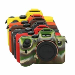 Silicone Armor Skin Case Body Cover Protector for Sony A74 7RIV A7R4 A7R3 A7R2
