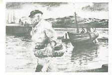 Carte postale ancienne  port de Croix de Vie dessin d' Henry Simon