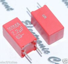 4pcs - WIMA MKS2 2.2uF (2,2uF ) 63V 5% pitch:5mm Capacitor MKS2C042201K00JSSD
