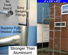 "DIY Scaffold Tower 4.3m (4'x 2'6"" x 14'0"" WH) Galvanised Steel"