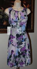 NEW Argenti Women Rufle Neck Sleeveless Crinkle Dress 4