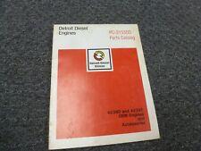 John Deere Detroit Diesel 4239D & 4239T Engine Parts Catalog Manual PC3153