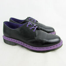 Dr Martens BLACK / PURPLE Shoes Size 8 / 42 AW501 10078 Unisex