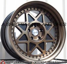 18x10 Varrstoen MK5 5x100 +30 Black Wheel Aggressive Fits Corolla Celica Wrx Brz