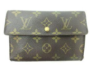 Auth Louis Vuitton Monogram Porte Tresor Etui Papiers M61202 Wallet 95189