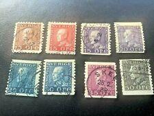 Sweden postage stamp king Gustav V collection Rare!