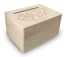 große Holz-Geschenkbox, Hochzeit, Briefbox (BB4) Geldgeschenke incl. Lasergravur