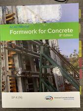ACI SP-4 (14) Formwork for Concrete 8th Edition (2014, Trade Hardcover)