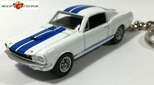RARE KEY CHAIN 1965/1966 WHITE BLUE SHELBY MUSTANG GT350 FORD GT 350 Ltd EDITION