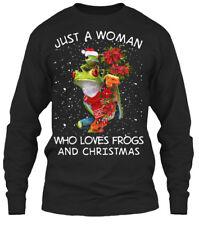 Frog- Just A Woman . Gildan Long Sleeve Tee T-Shirt
