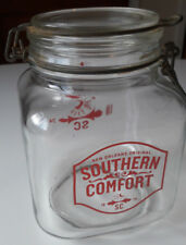 Southern Comfort New Orleans Large Glass Cookie Jar. 17cm tall