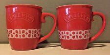 SET OF 2 RED BAILEYS IRISH CREAM COFFEE CUPS - BAILEY'S MUG