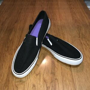 NEW Mossimo Supply Co Womens Black Textile Slip On Sneakers Shoes Size 10 or 11