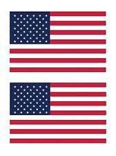 (2) American Flags Usa United States Flags Car Truck Decal Flg1 Made in America