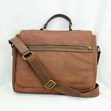 3c9cd20a627 Aldo mens laptop briefcase messenger bag brown pebble faux leather vegan  attache