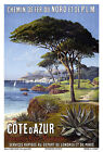 Affiche chemin de fer Nord & PLM - Côte-d'Azur