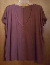 Brandy Melville Distressed Dolman Top One Size OS Designer Top Shirt