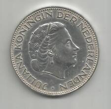 84B) NETHERLANDS 2,50 GULDEN 1959 - SILVER 0,720 - UNC