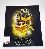 Football-nfl Todd Gurley Signed 16x20 Photo St Louis Los Angeles Rams Bulldogs Proof Jsa J32
