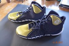 ADIDAS GAME ISSUED NOTRE DAME BASKETBALL SHOES - GOLD & NAVY - SIZE 17