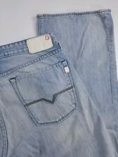 Guess Cliff Bootcut Light Distressed Designer Denim Jeans Mens 33 (35x31)
