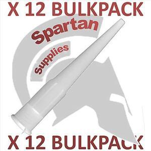 X 12 Pack Nozzles for 310ml cartridges Silicone Sealants Mastic Caulk