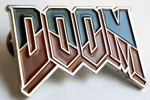 DOOM Logo Video Game Pin
