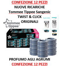 SANGENIC TOMMEE TIPPEE 12 RICARICHE TWIST CLICK SIMPLEE TEC ORIGINAL NEW AGRUMI
