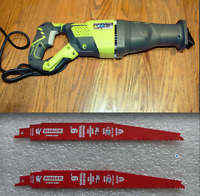 RYOBI 12 Amp Corded Reciprocating Saw, RJ186V, NEW, Shipped in Replacement Box