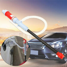 Red Battery Operated Electric Siphon Oil Water Petrol Liquid Transfer Pump Pipe
