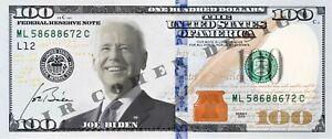 Graphic File Only - Joe Biden 100 Dollar Bill Funny Novelty Money Note