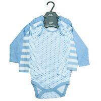 Ex Next Baby Boys Blue Star 3 Pack Bodysuits Rompers  0 3 6 9 12 18 24 Months