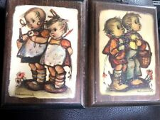 Hummel Wood Plaque Set Of 2 Boy Girl Vintage Collectible Wall Hanging