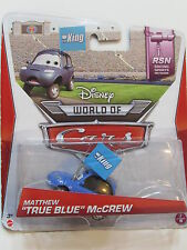 DISNEY PIXAR CARS WORLD OF CARS MATHEW TRUE BLUE McCREW