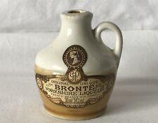 Vintage Empty Miniature Ceramic Bronte Yorkshire Liqueur Bottle Collectable