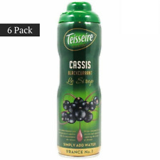 (6 PACK) Teisseire French Cassis Syrup (20 oz. x 6) Best Price FREE SHIPPING